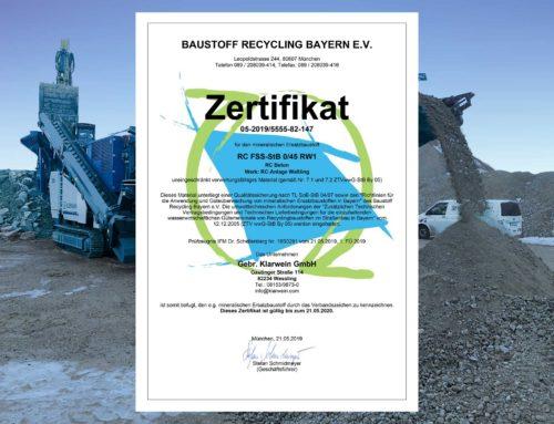 Neues Recyclingmaterial bei Klarwein