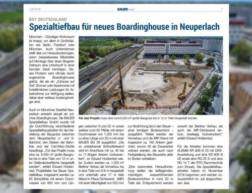 Spezialtiefbau-Projekt in Neuperlach mit Klarwein
